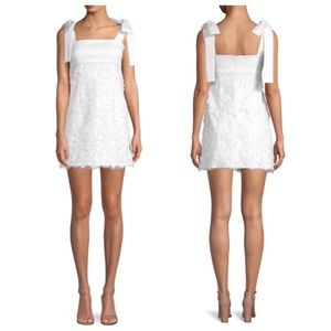 Alexis Elaina White Bow 3D Flowers Dress XS